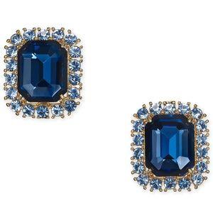 KATE SPADE Bright Ideas Gold Tone Emerald CZ Blue